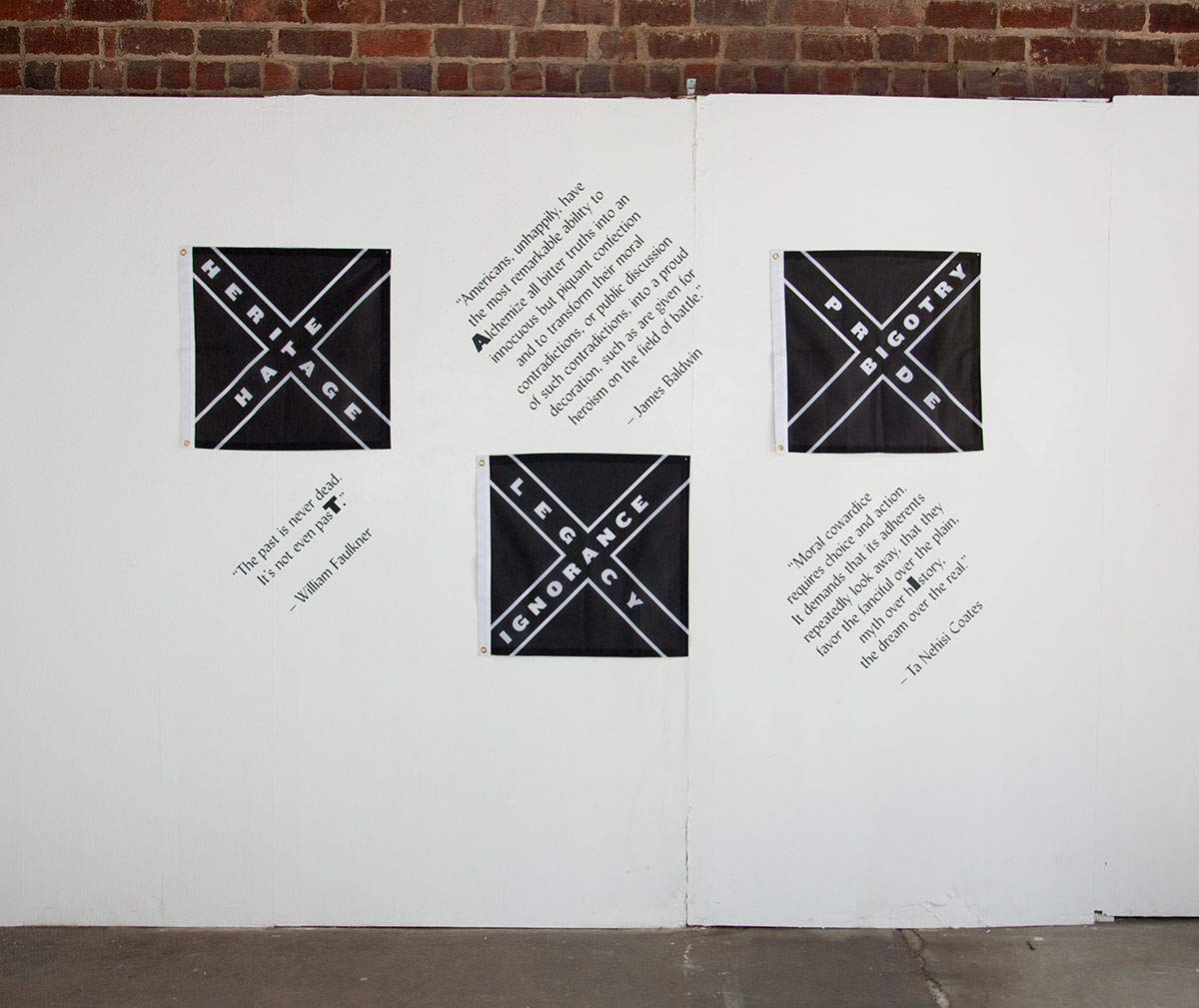 Past Presence, an installation created by Drew Sisk in response to the Charleston shooting in 2015