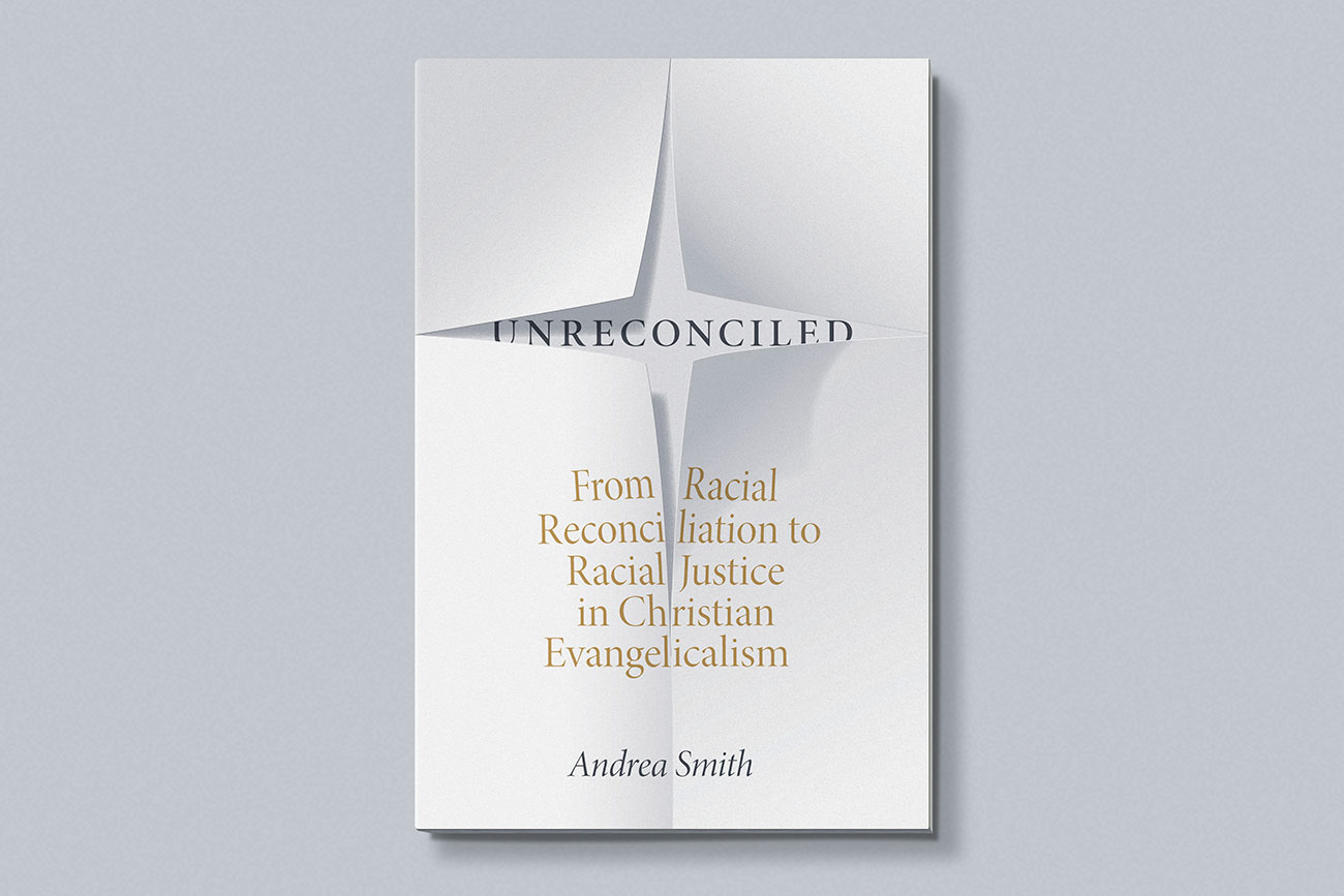 Cover design for Unreconciled by Andrea Smith, designed by Drew Sisk, published by Duke University Press