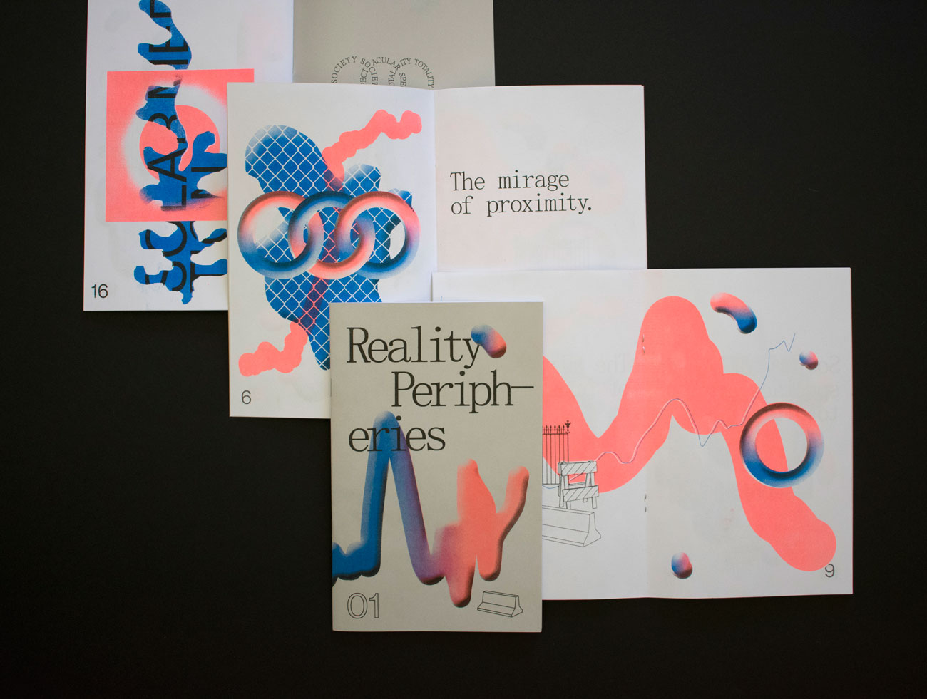 Reality Peripheries risograph publication by Drew Sisk, VCU MFA